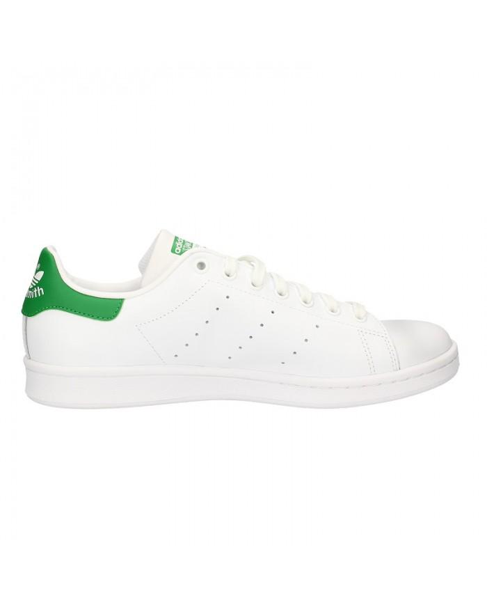 Scarpe Adidas Stan Smith Sneakers Da Uomo Casual In Pelle Bianca M20324