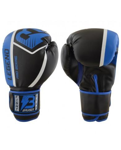 Guanto in pelle sintetica legend nero azzurro GU-372