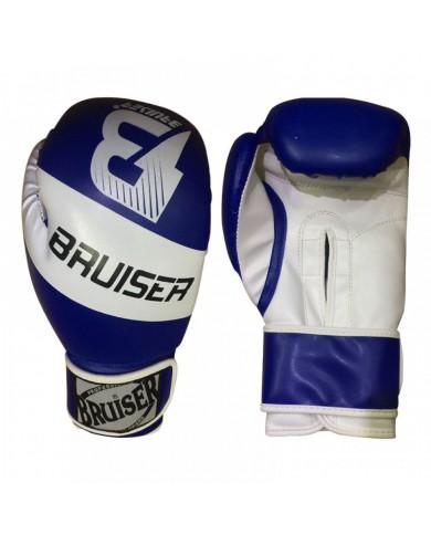 Guanto in pelle sintetica pro style azzurro bianco GU-362