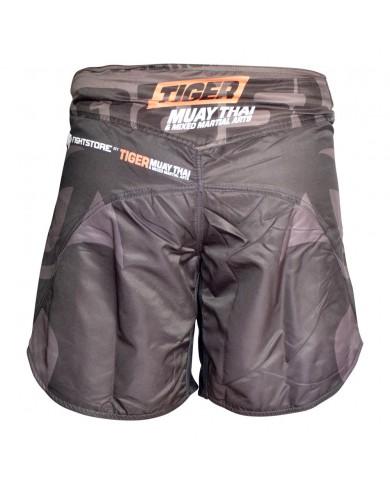 Pantaloncino mma tiger new edition grigio e nero PAN-3700