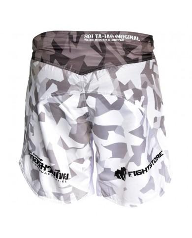 Pantaloncino mma tiger new edition grigio e bianco PAN-3701
