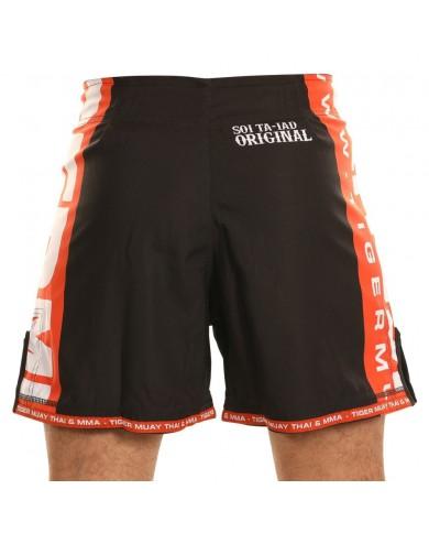 Pantaloncino mma tiger new edition nero e arancio PAN-3714