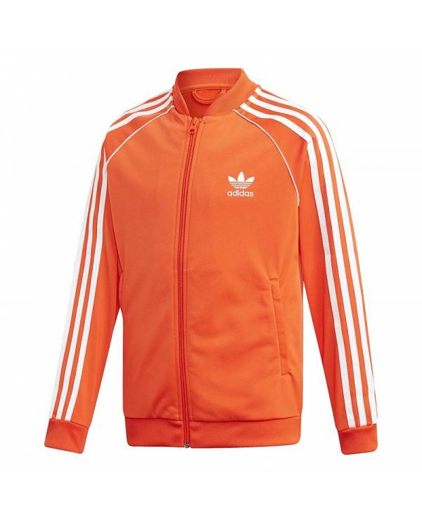 Felpa da Bimbo Adidas Original Superstar Giacca Tuta Ragazzo Arancio DV2899