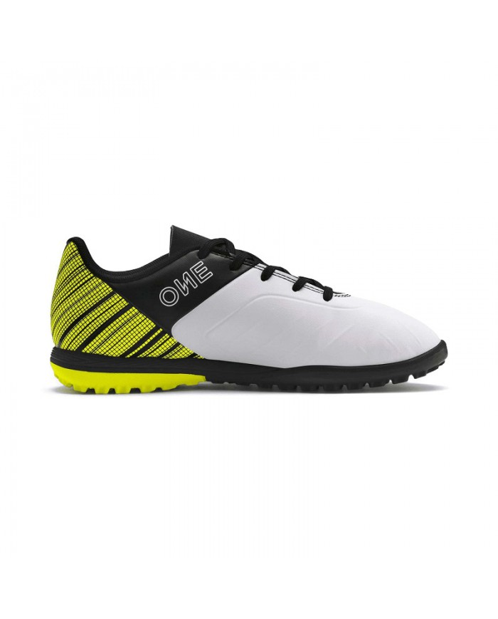 horizonte Correo aéreo partido Republicano  Puma Shoes Soccer One 5.4 TT Jr Futsal Boy White Black Yellow 10566203 |  eBay